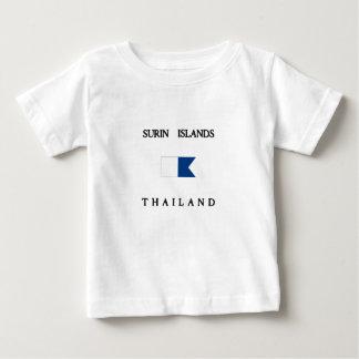 Flagga för dyk för Surin öThailand alfabetisk T-shirts