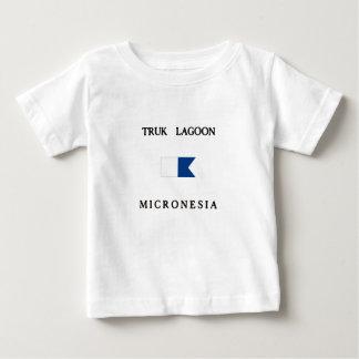 Flagga för dyk för Truk lagunMikronesien T-shirts