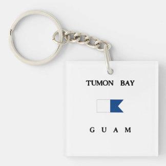 Flagga för dyk för Tumon fjärdGuam alfabetisk
