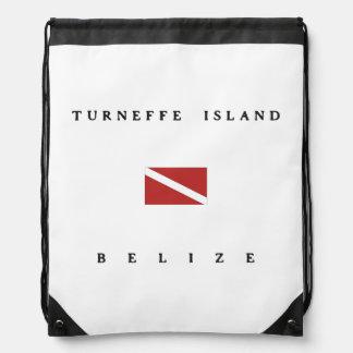 Flagga för dyk för Turneffe öBelize Scuba Gympapåse