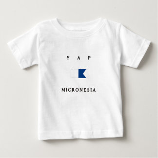 Flagga för dyk för YapMikronesien alfabetisk T Shirt