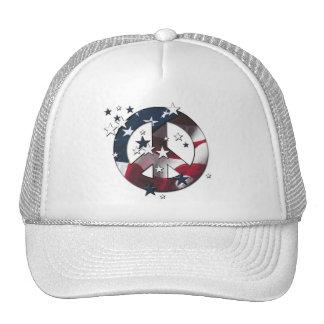 Flagga för för fredsteckenamerikanstjärnor & randa keps
