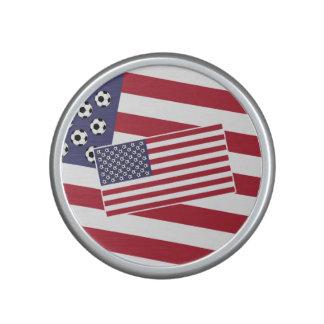 Flagga för fotbollfotbollstars och stripes speaker