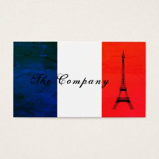 Flagga för franskEiffel torn, frankrike Visitkort