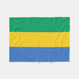 Flagga för Gabon medborgarevärld Fleecefilt