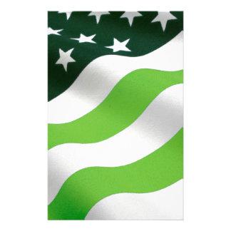 Flagga för grönt (ekologi) brevpapper