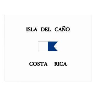 Flagga för Isla del Caño Costa Rica alfabetiskdyk Vykort