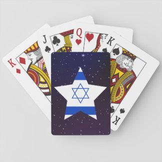 Flagga för Israel stjärnadesign Spel Kort
