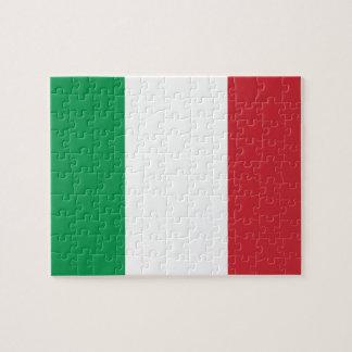 Flagga för italienmedborgarevärld pussel