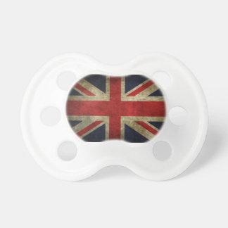 Flagga för jack för UK för gammal antikvitet britt Napp