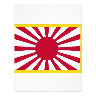 Flagga för Japan resningsol Brevhuvud