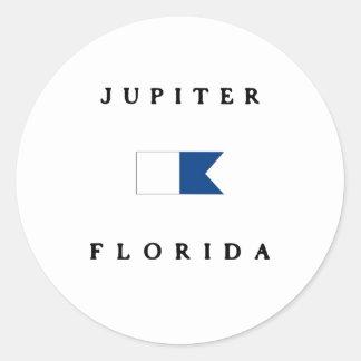 Flagga för Jupiter Florida alfabetiskdyk Runt Klistermärke
