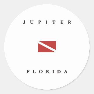 Flagga för Jupiter Florida Scubadyk Runt Klistermärke