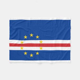 Flagga för Kap Verde medborgarevärld Fleecefilt