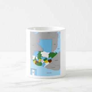 flagga för karta för guatemala land politisk kaffemugg