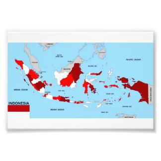 flagga för karta för indonesia land politisk fototryck