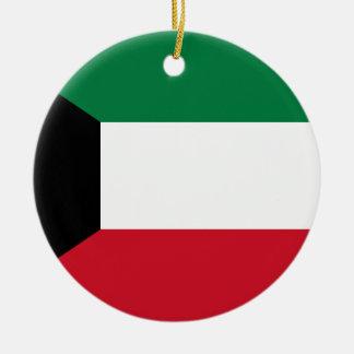 Flagga för Kuwait medborgarevärld Julgransprydnad Keramik