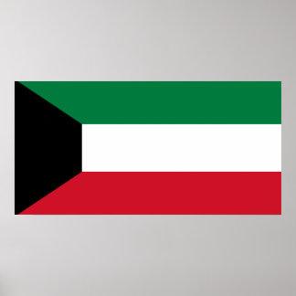 Flagga för Kuwait medborgarevärld Poster