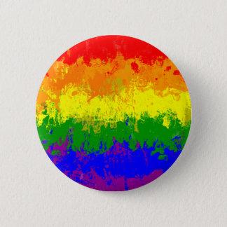 Flagga för LGBT-prideregnbåge målar splatteren Standard Knapp Rund 5.7 Cm