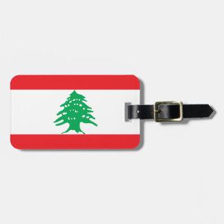 Flagga för Libanon medborgarevärld Bagagebricka