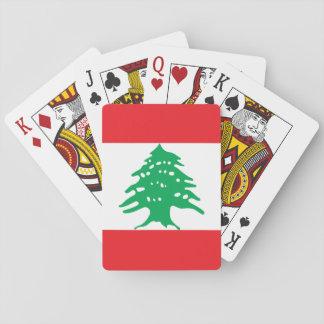 Flagga för Libanon medborgarevärld Spel Kort