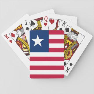 Flagga för Liberia medborgarevärld Casinokort