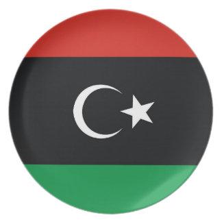 flagga för libialybialibya land pläterar tallrik