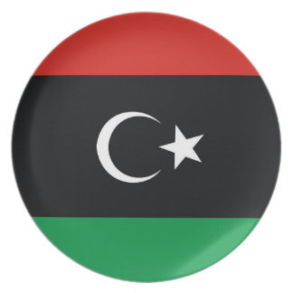flagga för libialybialibya land pläterar tallrikar