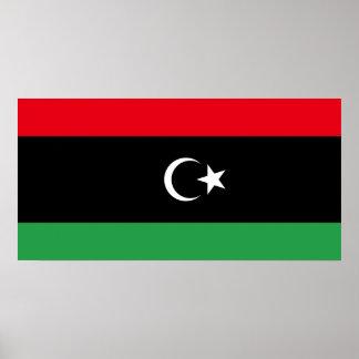 Flagga för Libyen medborgarevärld Poster