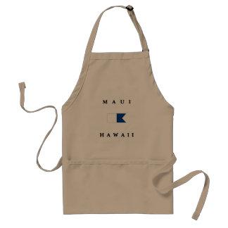 Flagga för Maui Hawaii alfabetiskdyk Förkläde