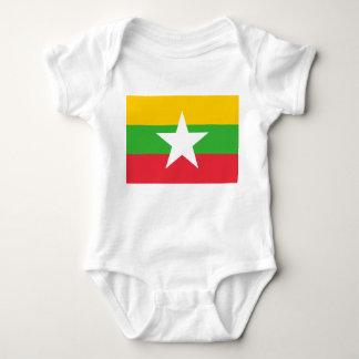 Flagga för Myanmar medborgarevärld Tee Shirts
