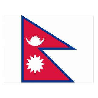 Flagga för Nepal medborgarevärld Vykort