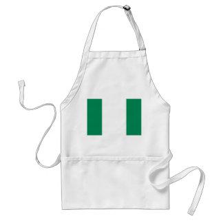 Flagga för Nigeria medborgarevärld Förkläde