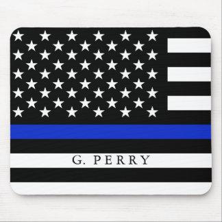 Flagga för personlignamnpolis musmatta