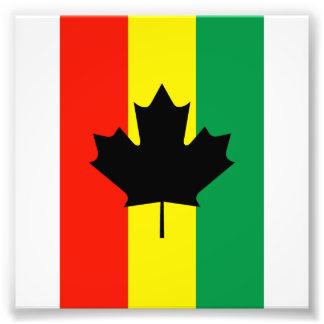 Flagga för Rasta Reggaelönnlöv Fototryck