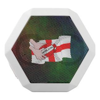 Flagga för supportrar för England Rugbylag med Vit Bluetooth Högtalare