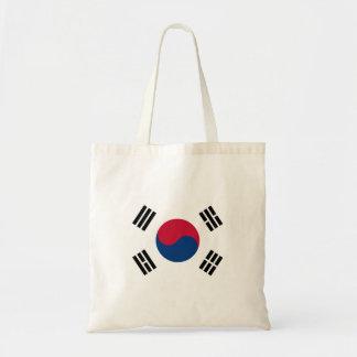 Flagga för Sydkorea medborgarevärld Budget Tygkasse