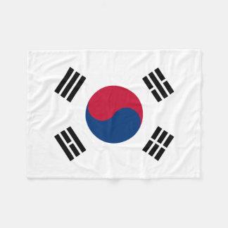 Flagga för Sydkorea medborgarevärld Fleecefilt
