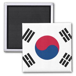 Flagga för Sydkorea medborgarevärld Magnet