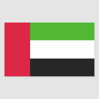 Flagga för UAE United Arab Emirates Rektangulärt Klistermärke