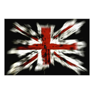 Flagga för UK England Fotontryck
