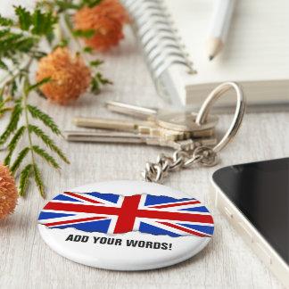 Flagga för Uk United Kingdom Rund Nyckelring