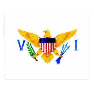 FLAGGA FÖR US VIRGIN ISLANDS VYKORT