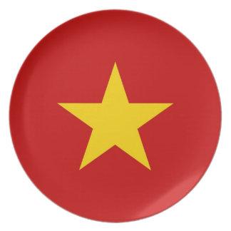 flagga för vietnam vietnam stjärnaland pläterar tallrik