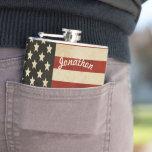 Flagga för vintage för personligflaskaamerikan