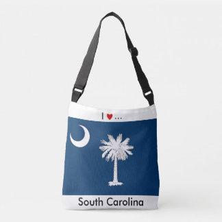 Flagga hänger lös, South Carolina Axelväska