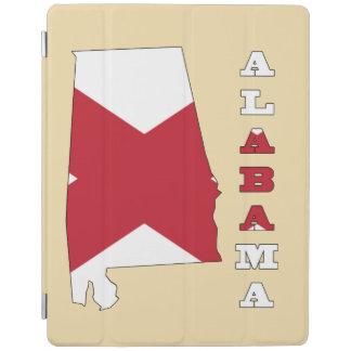 Flagga i karta av Alabama iPad Skydd
