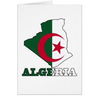 Flagga i karta av Algeriet Hälsningskort