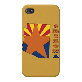 Flagga i kartan Arizona iPhone 4 Hud