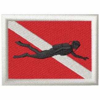 Flagga med dykare jacka